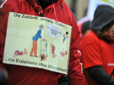 Warnstreik in M�nchen