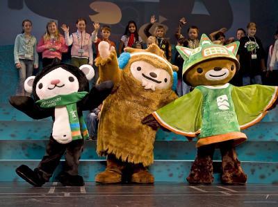 Miga, Quatchi und Sumi: Die Maskottchen für die Olympischen Winterspiele in Vancouver.