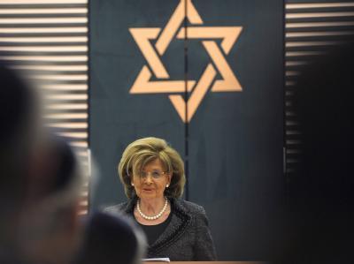 Charlotte Knobloch am Donnerstag während der Einweihung des Neubaus der Synagoge von Osnabrück.