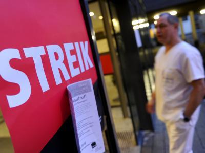 Warnstreik im Klinikum Frankfurt-Höchst