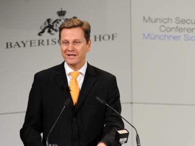 Bundesaußenminister Guido Westerwelle bei der Sicherheitskonferenz in München.