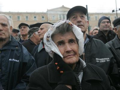 Beamtenstreik in Griechenland - Senioren