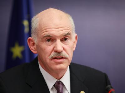 Griechenlands Regierungschef Giorgos Papandreou in Brüssel.