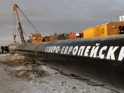 Beginn der Arbeiten für das erste Teilstück der zukünftigen Ostsee-Gaspipeline von Russland nach Deutschland in Babajew (Archivfoto vom 09.12.2005).
