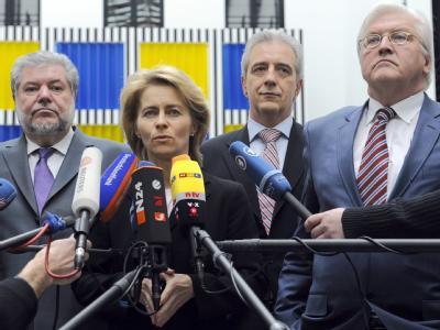 Ernste Mienen nach dem Spitzengespräch der Bundesregierung mit SPD-Vertretern zur Jobcenter-Reform.