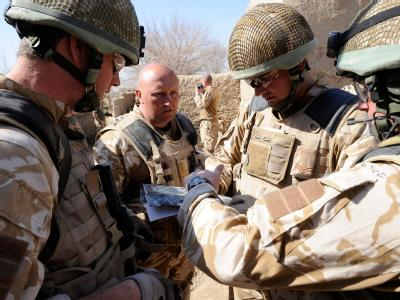 Britische Soldaten bei der Offensive in der Provinz Helmand. (Foto: SSGT MARK JONES EDITORIAL)