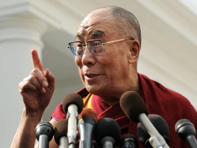 Der Dalai Lama nach seinem Treffen mit US-Präsident Obama.