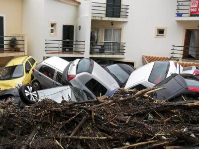 Unwetter auf Madeira