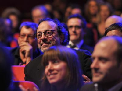Regisseur Hasan Semih Kaplanoglu bei der Berlinale-Preisverleihung.