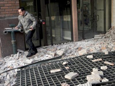 Trümmer in Santiago de Chile