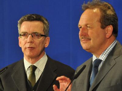 Thomas de Maizière und Frank Bsirske
