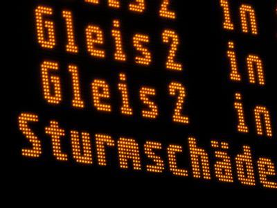 Zugverkehr eingestellt