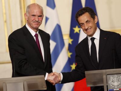 Papandreou und Sarkozy