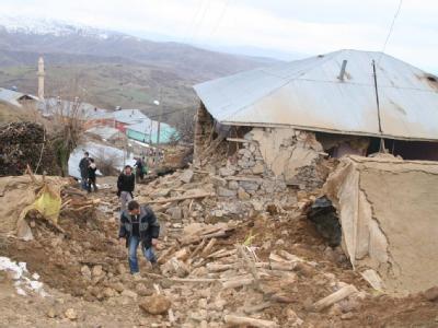 Okcular, eines der am stärksten vom Erdbeben betroffenen türkischen Dörfer.