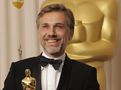 Christoph Waltz stolz mit Oscar.