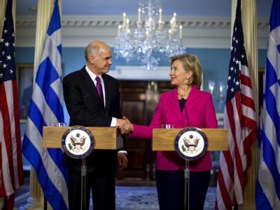 Papandreou und Clinton