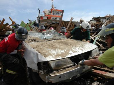 Noch immer sind die Menschen in Chile mit der Beseitigung der Schäden durch das starke Erdbeben Ende Februar beschäftigt. Jetzt hat es ein heftiges Nachbeben gegeben.