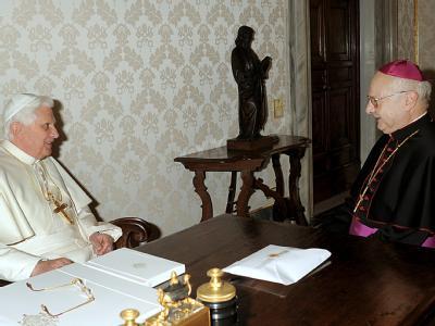 Papst Benedikt XVI. und Erzbischof Zollitsch