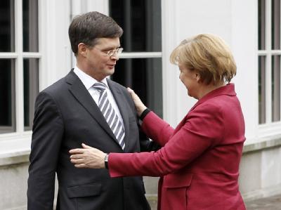 Bundeskanzlerin Angela Merkel (CDU) und der niederländische Ministerpräsident Jan Peter Balkenende.