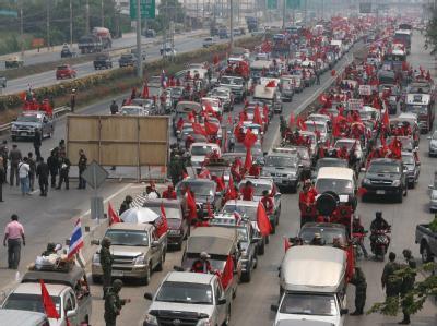 Oppositionsmarsch auf Bangkok