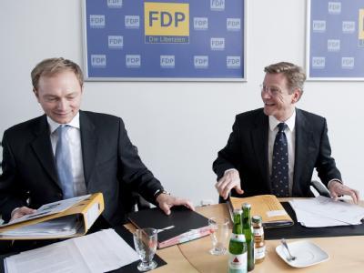 Christian Lindner und Guido Westerwelle