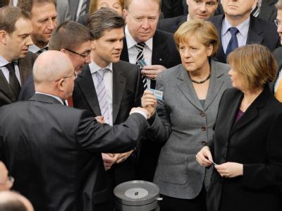 Stimmabgabe im Bundestag