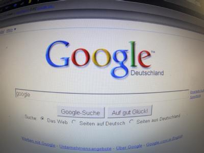 Die Startseite von Google Deutschland.