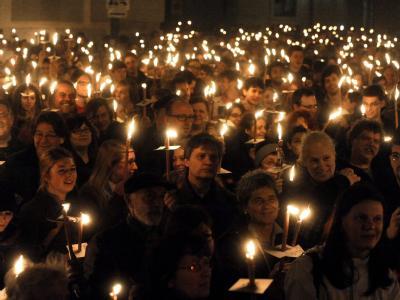 Protest gegen Rosenkranz