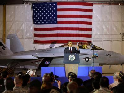 US-Präsident Obama auf dem Luftwaffenstützpunkt Andrews im Bundesstaat Maryland.