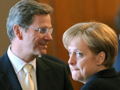 Bundeskanzlerin Merkel und Außenminister Westerwelle.
