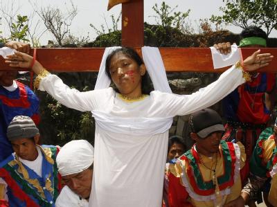 Osterritual auf den Philippinen