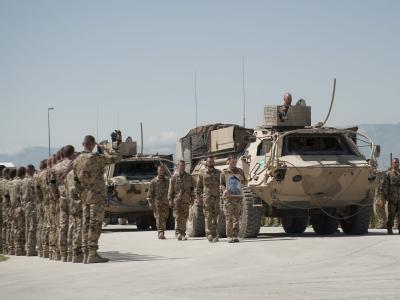 Trauerfeier für gefallene Soldaten