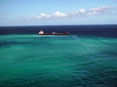 Frachter auf Barrier Reef