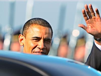 US-Präsident Barack Obama bei seiner Ankunft in Prag.
