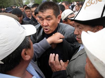 Demonstration im Süden Kirgistans