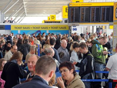 Am Airport Stansted bei London geht gar nichts mehr.