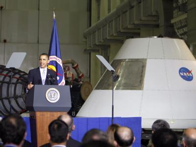 US-Präsident Barack Obama hat sich trotz massiver Sparzwänge klar zur bemannten Raumfahrt bekannt.