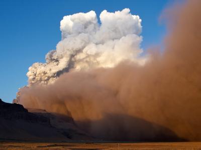 Vulkan unter dem Eyjafjallaj�kull