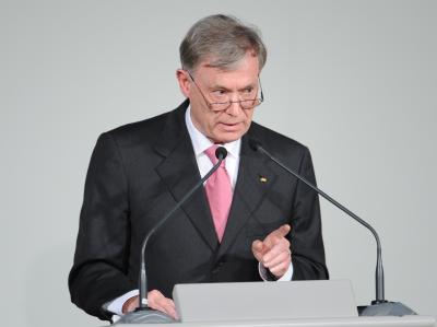 Bundespräsident Köhler spricht auf dem Munich Economic Summit in München.