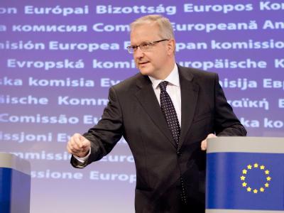 EU-Währungskommissar Olli Rehn äußert sich zum Stand der Verhandlungen über eine Griechenland-Hilfe.