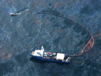 Ölsperre im Golf von Mexiko