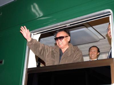 Nordkoreas Machthaber Kim Jong Il Anfang Mai während eines Besuchs in China.