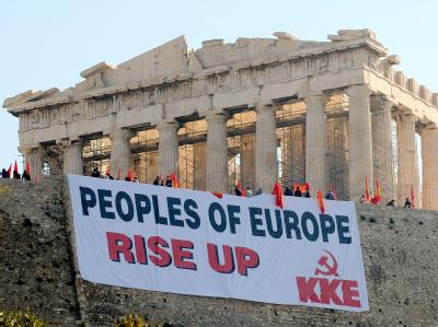 Demonstration auf der Akropolis