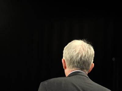 Der nordrhein-westfälische Ministerpräsident Jürgen Rüttgers (CDU) während einer Wahlkampfveranstaltung.