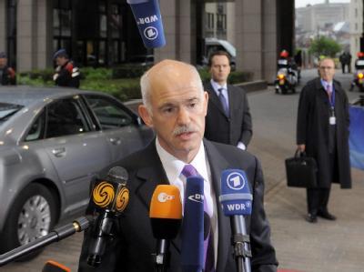 Griechenlands Regierungschef Giorgos Papandreou erwartet von dem Euro-Gipfel eine Botschaft für einen «Aufschwung».