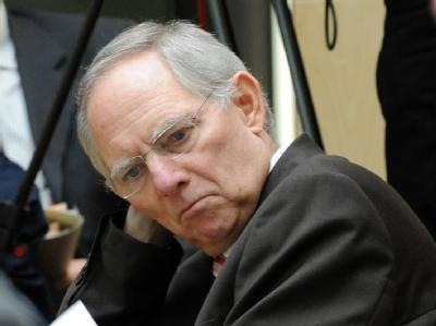 Bundesfinanzminister Wolfgang Schäuble am 7. Mai 2010 bei einer Sitzung des Bundesrats.-