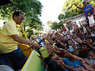 Benigno «Noynoy» Aquino ist der Favorit für das Präsidentenamt.