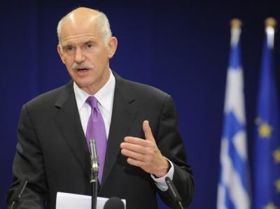 Hilfe aus Brüssel an Athen: Der griechische Ministerpräsident Giorgos Papandreou kann zu Hause Vollzug verkünden.