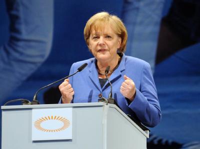 Merkel auf Kirchentag