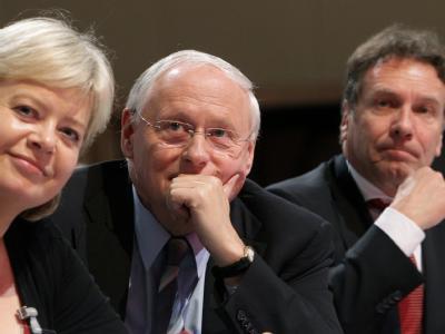 Lötzsch, Lafontaine und Ernst